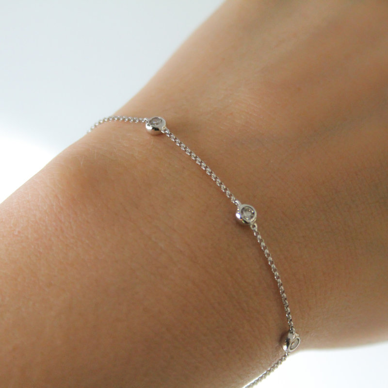 DAISY White Gold Quinate Diamond Bracelet