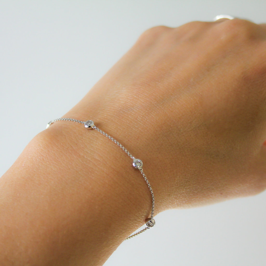 Joulberry White Gold Quinate Diamond Bracelet