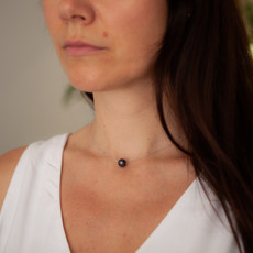 MONROE White Gold Floating Pearl Necklace
