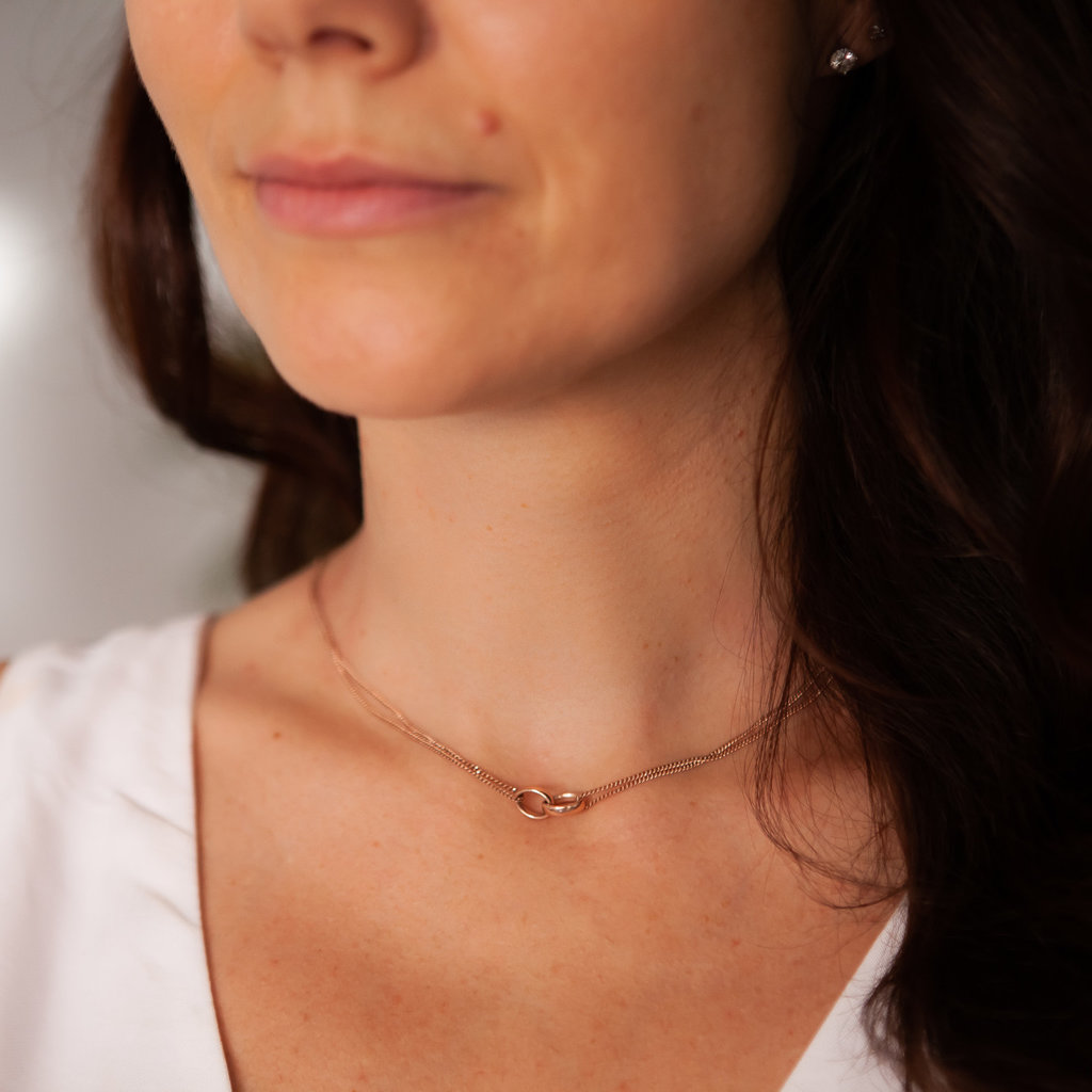 Rose Gold Eternity Necklace