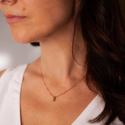 Nova Rose Gold Bolt Necklace