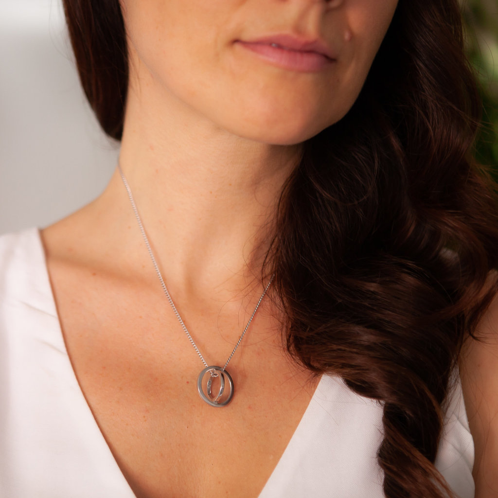 Joulberry White Gold Sphere Necklace