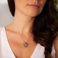 White Gold Sphere Necklace