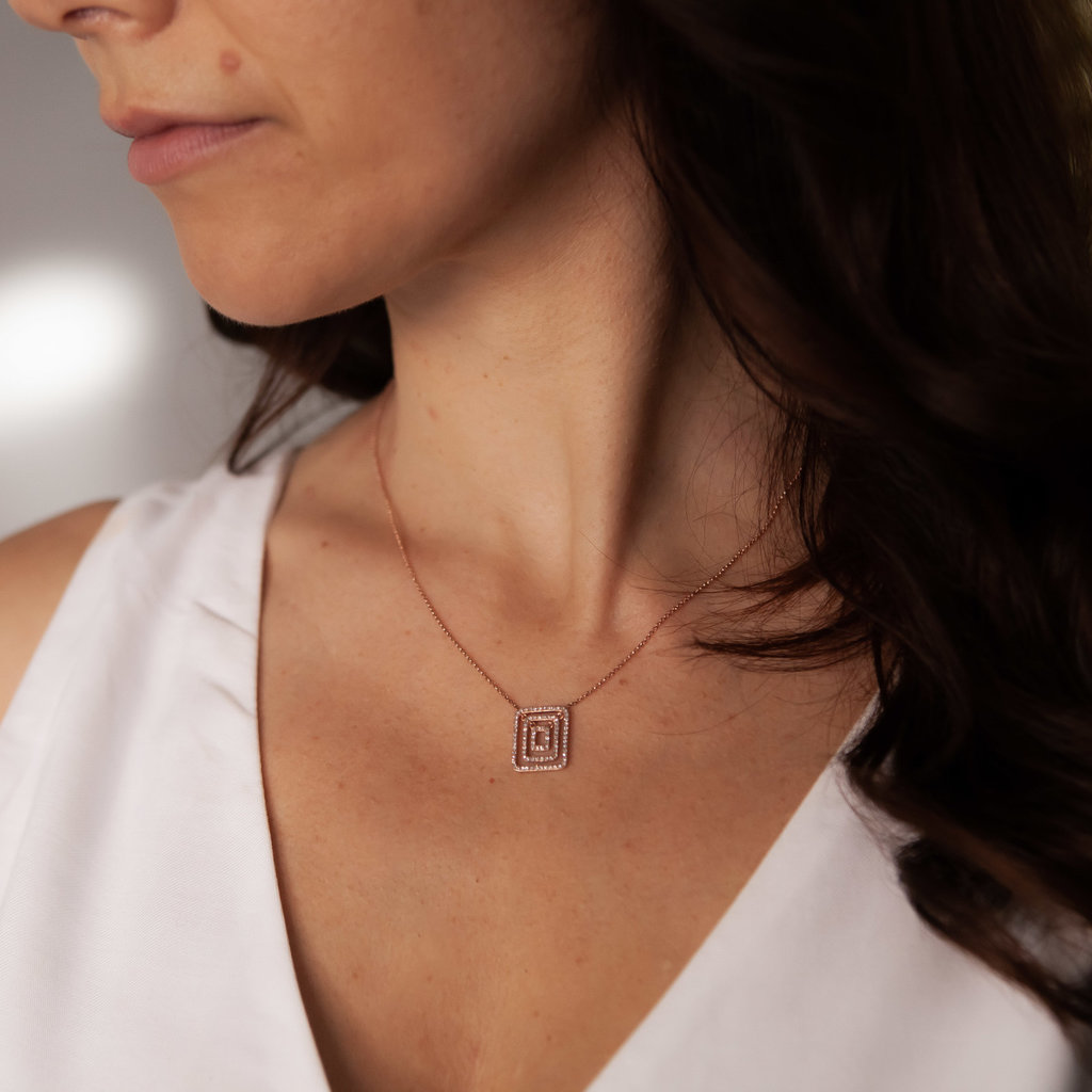 TATE Rose Gold Aria Necklace