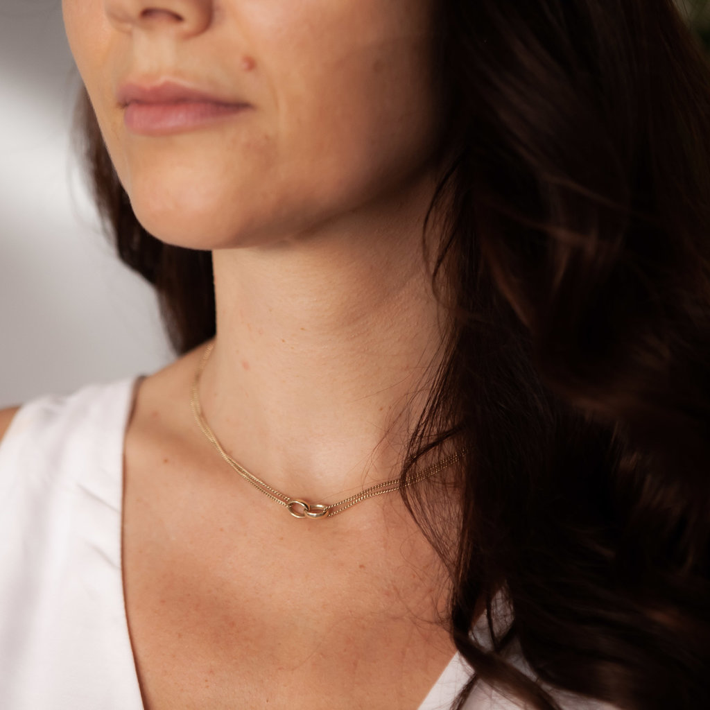 Joulberry Gold Eternity Necklace