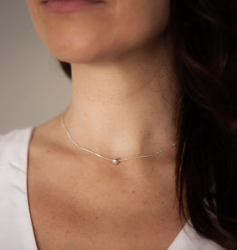 Joulberry Silver Floating Ball Necklace