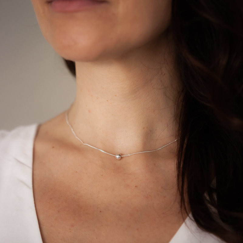 MONROE Silver Floating Ball Necklace
