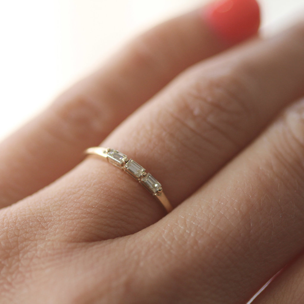 Joulberry Gold Lilly Trio Diamond Ring