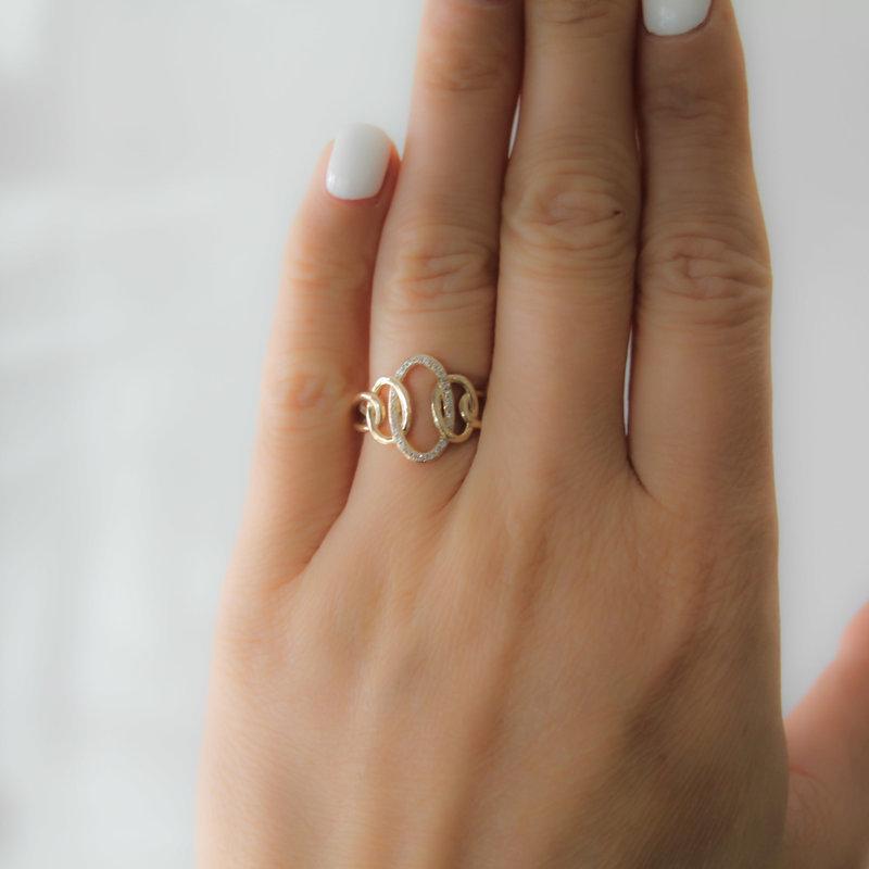 MONROE Gold Helena Diamond Ring