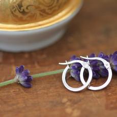 KENSINGTON White Gold Polo Hoop Earrings