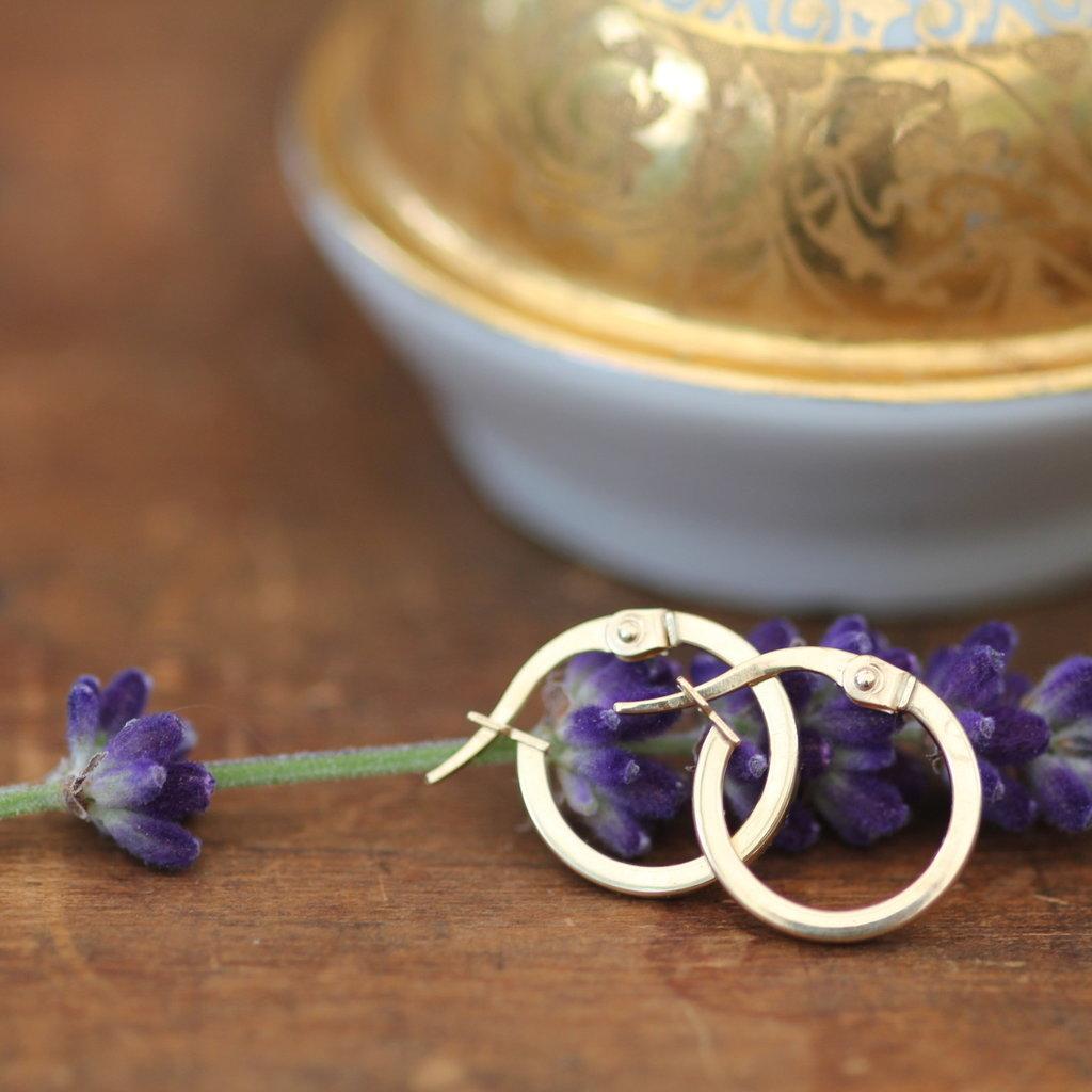 Gold Polo Hoop Earrings