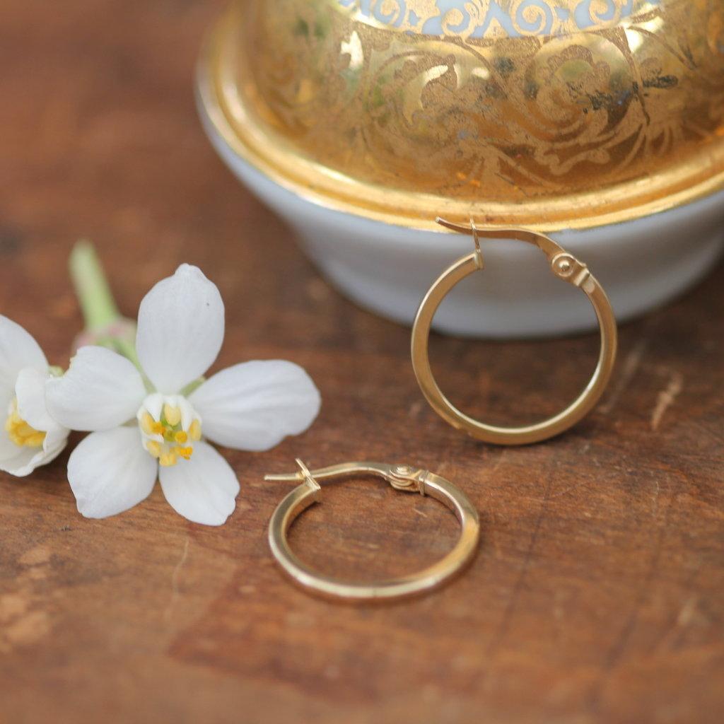 KENSINGTON Gold Polo Hoop Earrings