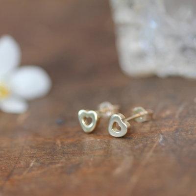 Joulberry Gold Silhouette Heart Earrings