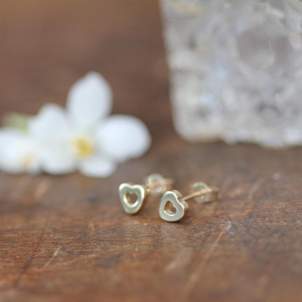 DARCY Gold Silhouette Heart Earrings