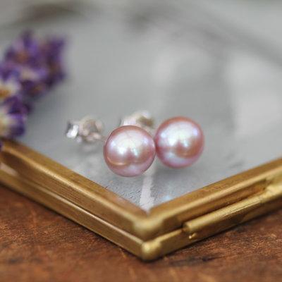 MADISON Blush Freshwater Pearl Stud Earrings