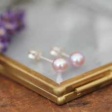 Joulberry Blush Ocean Pearl Stud Earrings
