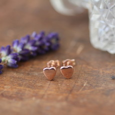 Joulberry Rose Gold Heart Earrings
