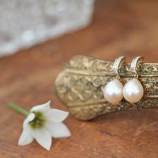 Joulberry Gold Diamond Duchess Earrings