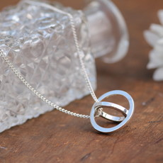 Joulberry Silver Sphere Necklace