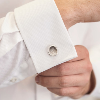 Joulberry Fingerprint Nugget Cufflinks