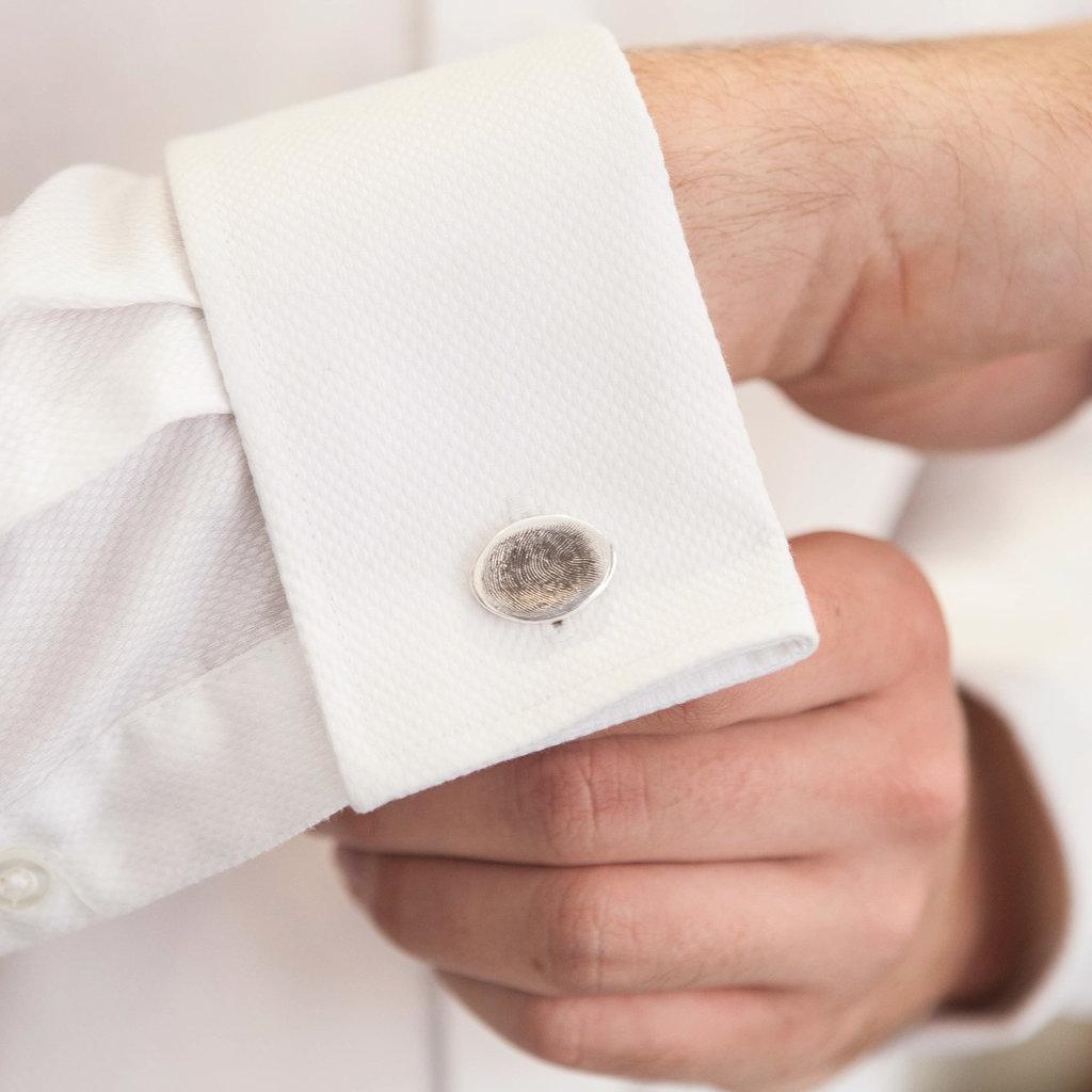 Fingerprint Oval Cufflinks