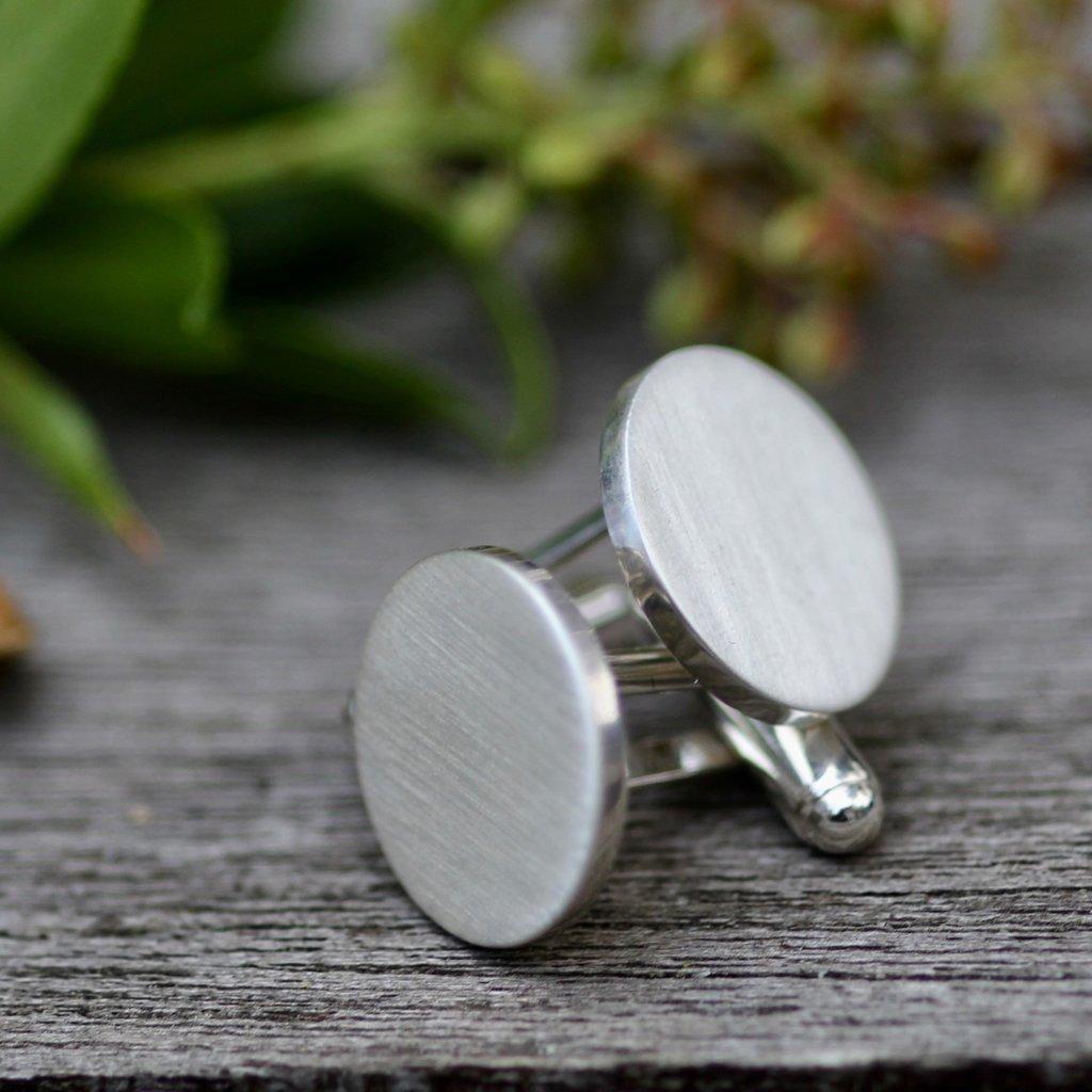 Joulberry Shadow Sterling Silver Cufflinks