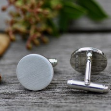 METRO Shadow Sterling Silver Cufflinks