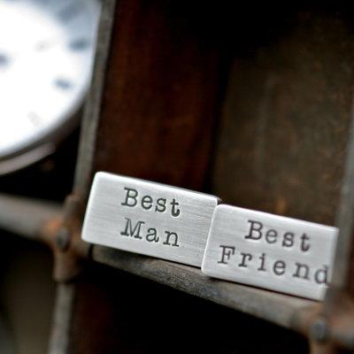 Personalised Best Man Cufflinks