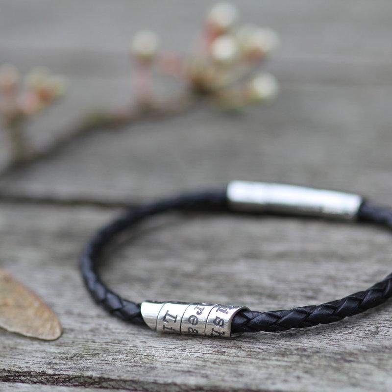 PERSONALISED Black Northcote Bracelet