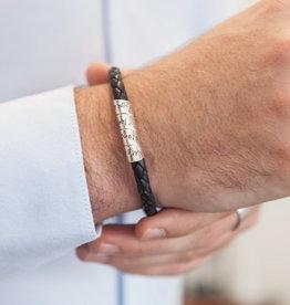 Joulberry Personalised Black Bono Scroll Bracelet