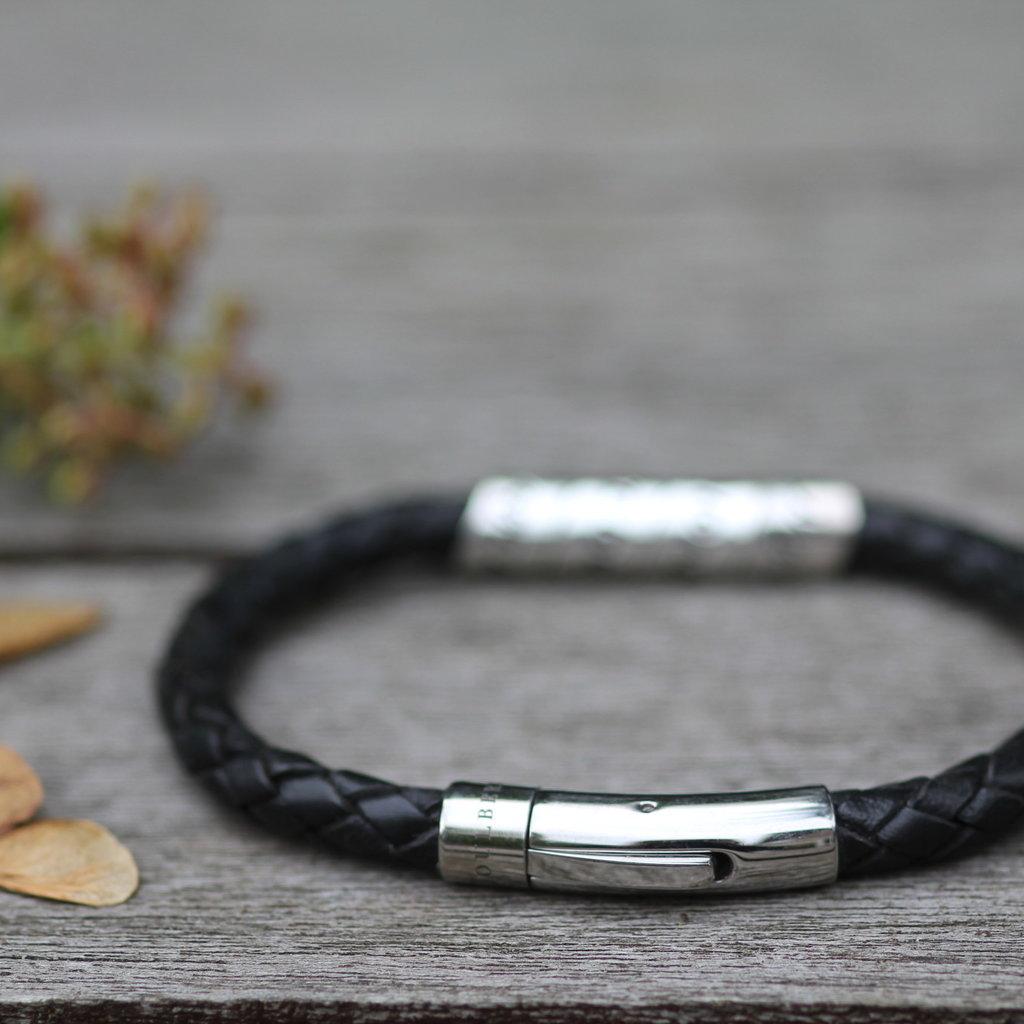 PERSONALISED Black Bono Scroll Bracelet
