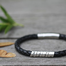 Joulberry Personalised Black Bono Scroll Bracelet