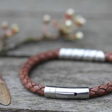 Personalised Tan Bono Scroll Bracelet