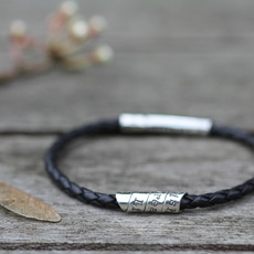 Joulberry Personalised Black Northcote Bracelet