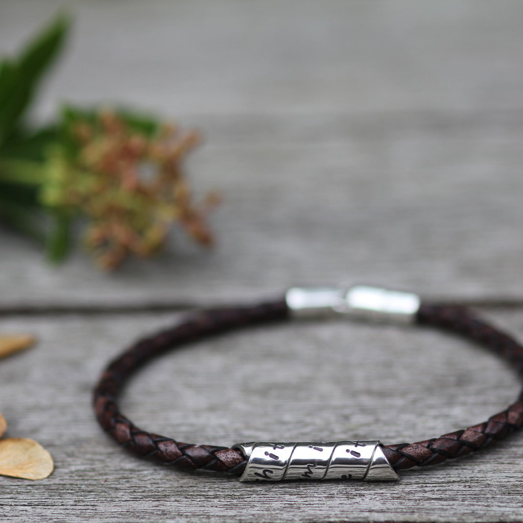 Joulberry Personalised Brown Northcote Bracelet