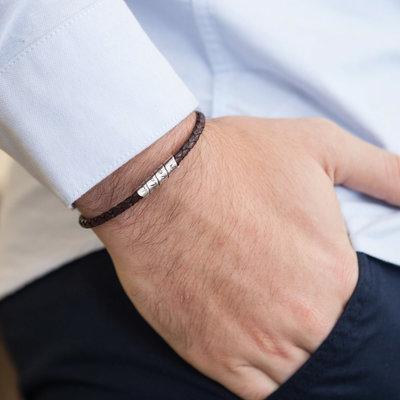 PERSONALISED Brown Northcote Bracelet