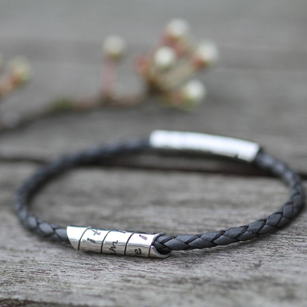 PERSONALISED Grey Northcote Bracelet