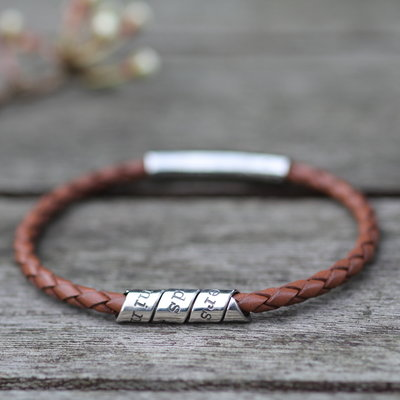 PERSONALISED Tan Northcote Bracelet