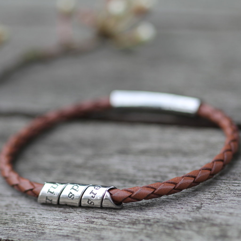 Joulberry Personalised Tan Northcote Bracelet