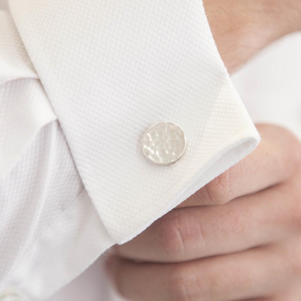 METRO Arran Silver Coin Cufflinks