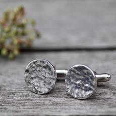 Joulberry Arran Silver Coin Cufflinks