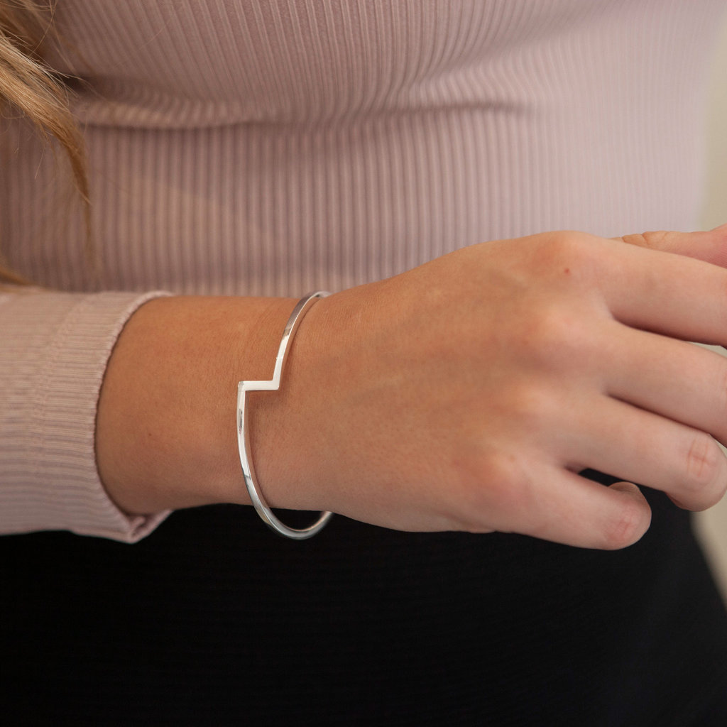 Joulberry Silver Bolt Bangle