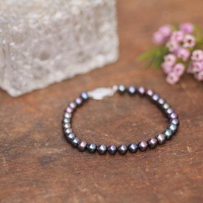 Black Ocean Pearl Bracelet