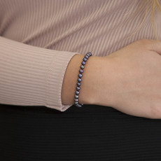 MADISON Black Freshwater Pearl Bracelet