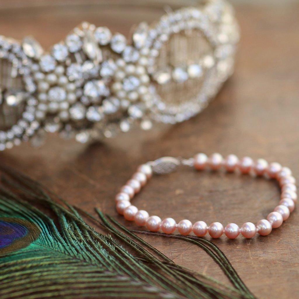 MADISON Blush Freshwater Pearl Bracelet