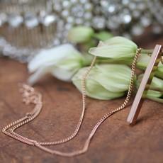 KENSINGTON Rose Gold Bolt Necklace