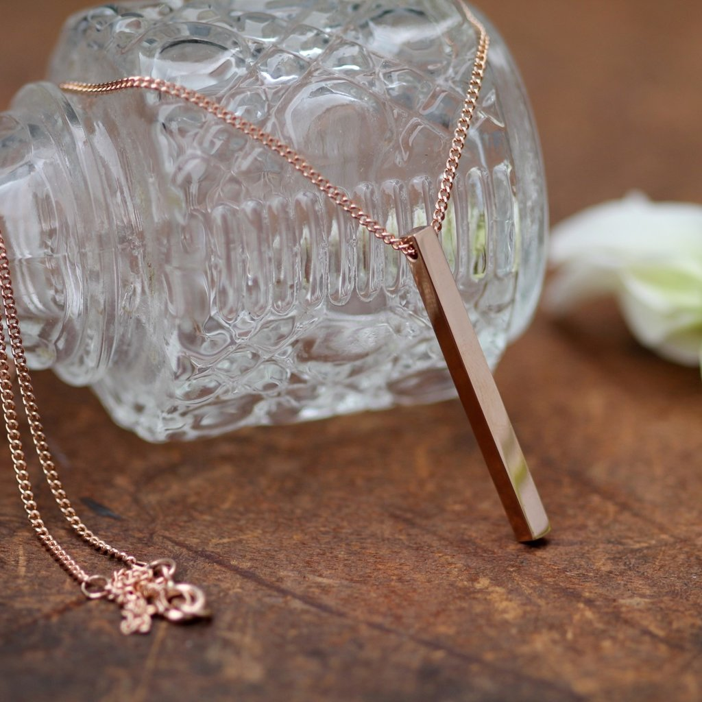 Joulberry Rose Gold Bolt Necklace