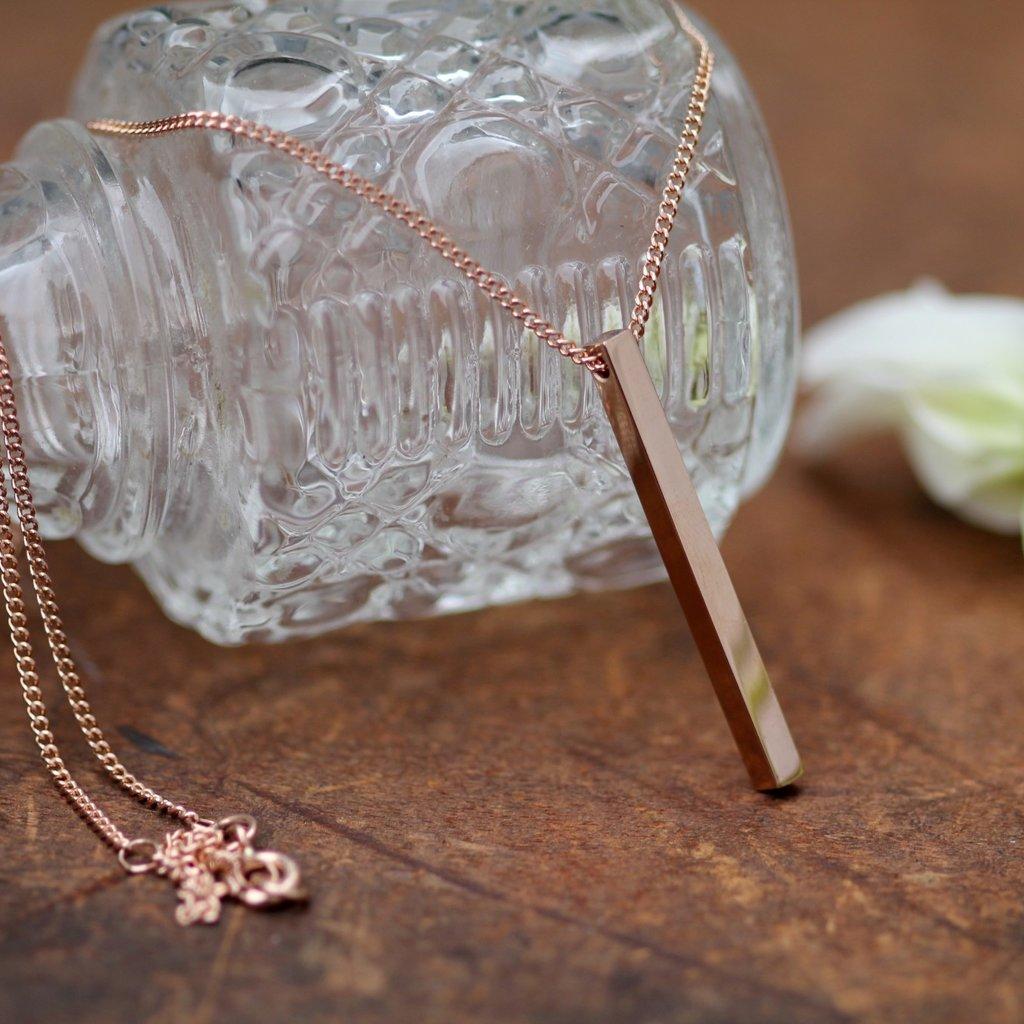 Rose Gold Bolt Necklace