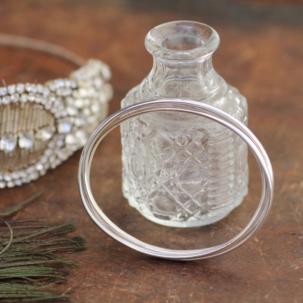 Russian Silver Elipse Bangle