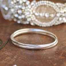 CASSIDY Russian Silver Elipse Bangle